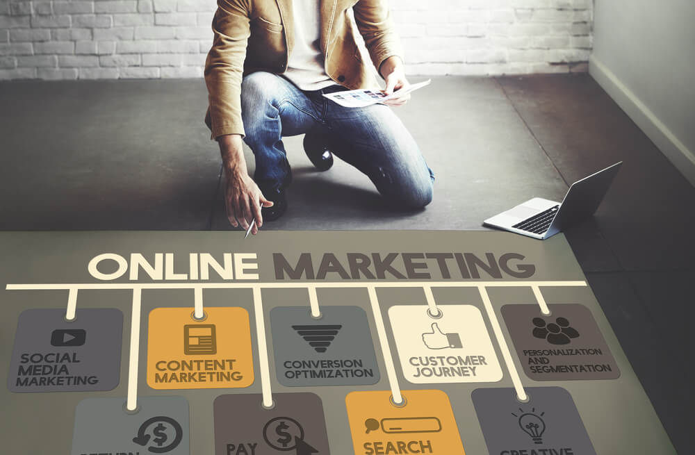 show the different parts of digital marketing